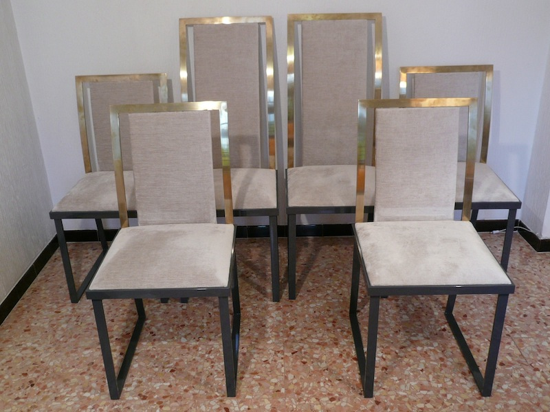 CHAIRS BRASS 70'S